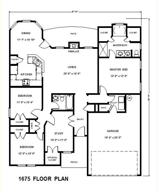 1675 Floor Plan 540