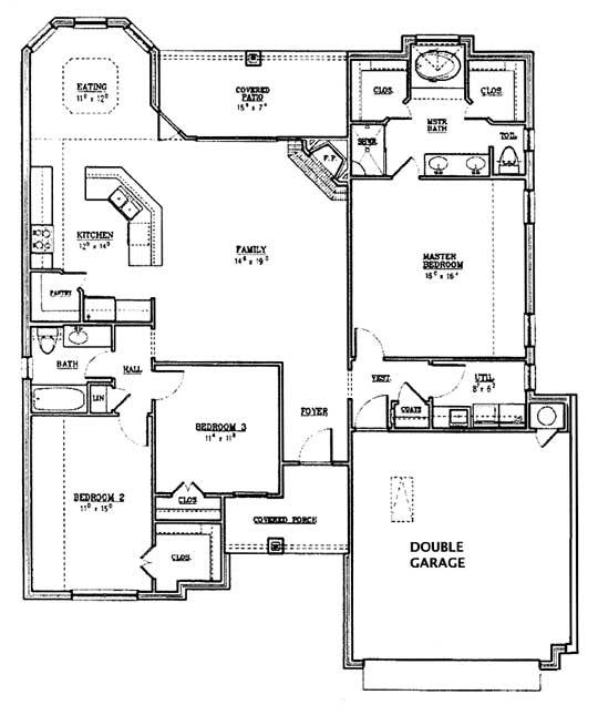 1833 Floor Plan