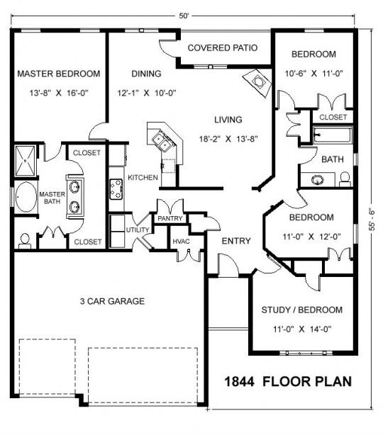 1844 Floor Plan