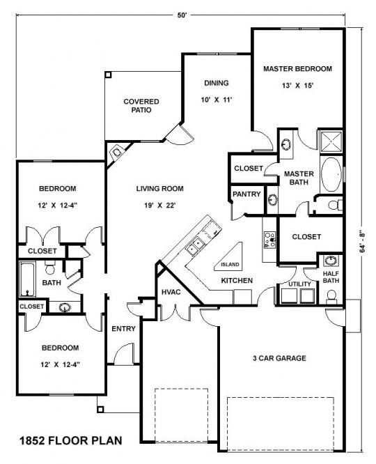 1852 Floor Plan